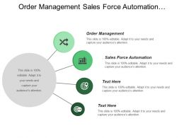 Order Management Sales Force Automation Computer Telephony Integration