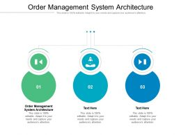 Order Management System Architecture Ppt Powerpoint Presentation Visual Aids Cpb