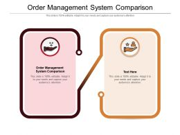 Order Management System Comparison Ppt Powerpoint Presentation Diagram Ppt Cpb