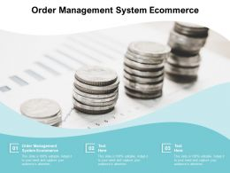 Order Management System Ecommerce Ppt Powerpoint Presentation Inspiration Templates Cpb