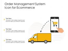 Order Management System Icon For Ecommerce