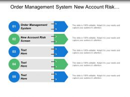 Order Management System New Account Risk Screen Company Strategies