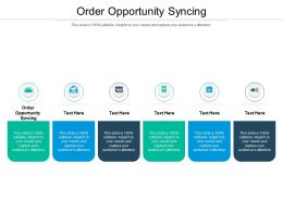 Order Opportunity Syncing Ppt Powerpoint Presentation Portfolio Demonstration Cpb