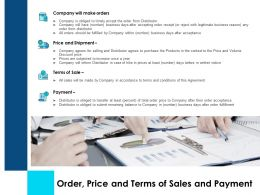 Order Price And Terms Of Sales And Payment Ppt Images