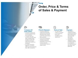 Order Price And Terms Of Sales And Payment Ppt Powerpoint Model