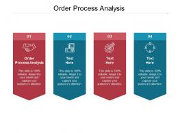 Order Process Analysis Ppt Powerpoint Presentation Infographic Template Slides Cpb