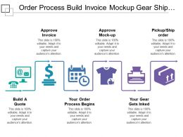 Order Process Build Invoice Mockup Gear Ship Order