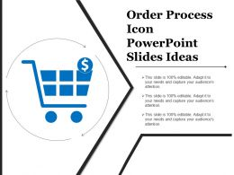 Order Process Icon Powerpoint Slides Ideas