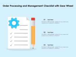 Order Processing And Management Checklist With Gear Wheel