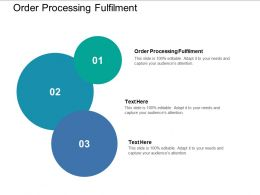 Order Processing Fulfilment Ppt Powerpoint Presentation Styles Samples Cpb