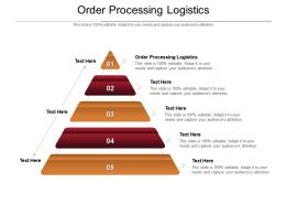 Order Processing Logistics Ppt Powerpoint Presentation Infographic Template Slideshow Cpb