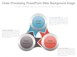 Order Processing Powerpoint Slide Background Image