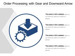 Order Processing With Gear And Downward Arrow