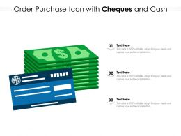 Order Purchase Icon With Cheques And Cash