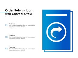 Order Returns Icon With Curved Arrow