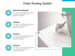 Order Routing System Ppt Powerpoint Presentation Pictures Professional Cpb