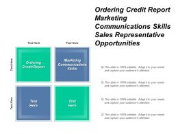 Ordering Credit Report Marketing Communications Skills Sales Representative Opportunities Cpb