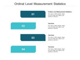 Ordinal Level Measurement Statistics Ppt Powerpoint Presentation Show Slide Cpb