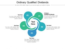 Ordinary Qualified Dividends Ppt Powerpoint Presentation Pictures Example File Cpb