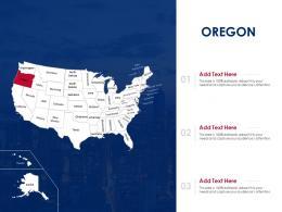 Oregon Map Powerpoint Presentation PPT Template