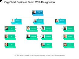Org Chart Business Team With Designation