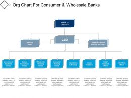 Org Chart For Consumer And Wholesale Banks