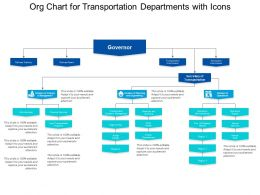 Org Chart For Transportation Departments With Icons