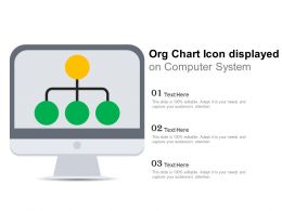 Org Chart Icon Displayed On Computer System