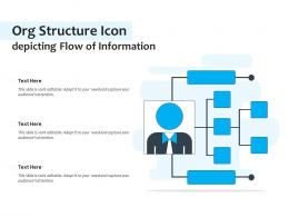 Org Structure Icon Depicting Flow Of Information
