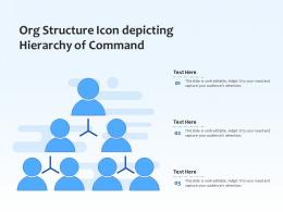 Org Structure Icon Depicting Hierarchy Of Command