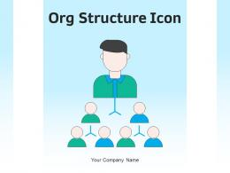 Org Structure Icon Employees Management Hierarchy Decision Representing Circle