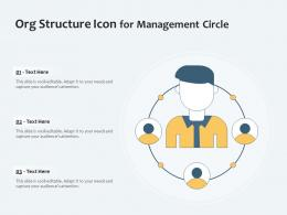 Org Structure Icon For Management Circle