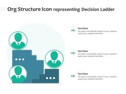 Org Structure Icon Representing Decision Ladder