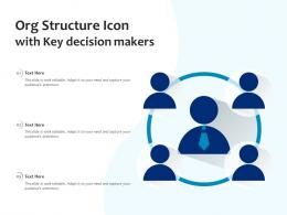 Org Structure Icon With Key Decision Makers