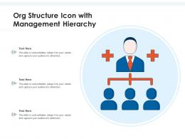 Org Structure Icon With Management Hierarchy