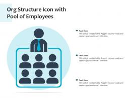 Org Structure Icon With Pool Of Employees