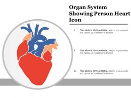 Organ System Showing Person Heart Icon