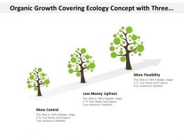 Organic Growth Covering Ecology Concept With Three Points