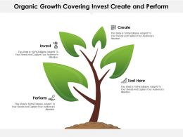Organic Growth Covering Invest Create And Perform Points