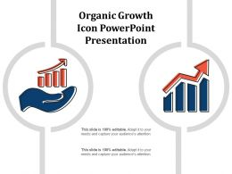 Organic Growth Icon Powerpoint Presentation
