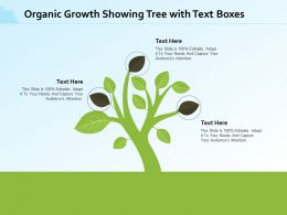 Organic Growth Showing Tree With Text Boxes