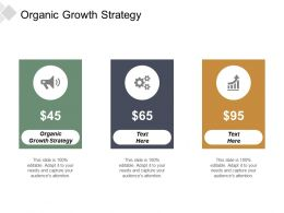Organic Growth Strategy Ppt Powerpoint Presentation File Example Topics Cpb