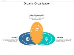 Organic Organization Ppt Powerpoint Presentation Slides Model Cpb