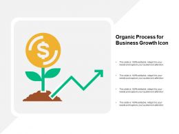 Organic Process For Business Growth Icon