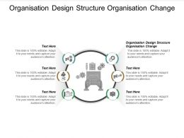 Organisation Design Structure Organisation Change Ppt Powerpoint Presentation Show Maker Cpb