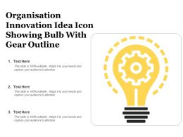 Organisation Innovation Idea Icon Showing Bulb With Gear Outline
