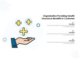 Organisation Providing Health Insurance Benefits To Customer