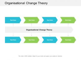 Organisational Change Theory Ppt Powerpoint Presentation Icon File Formats Cpb