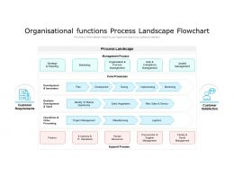 Organisational Functions Process Landscape Flowchart