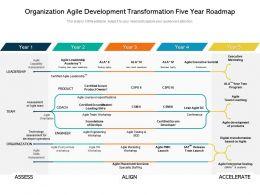 Organization Agile Development Transformation Five Year Roadmap